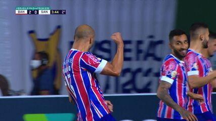 Gol do Bahia! Assistência de Rossi, gol de Thaciano, de novo, aos 3' do 2º tempo