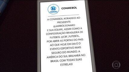 Governo Federal vai decidir se o Brasil vai sediar a Copa América