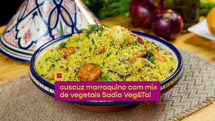 Cuscuz Marroquino com Mix de Vegetais: confira como fazer