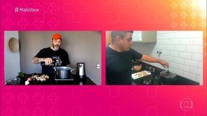 Jimmy Ogro ajuda a família Ferreira Alves a se virar na cozinha