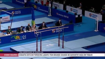 Diogo Soares compete no Pan de Ginástica no Rio