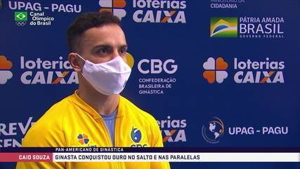 Caio Souza comemora 3 medalhas de ouro no Pan de Ginástica