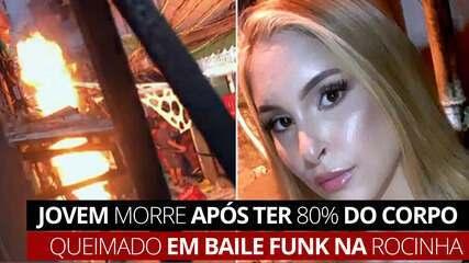 VÍDEO: Jovem morre após ter 80% do corpo queimado em baile funk na Rocinha