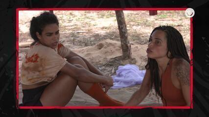 Paula se impõe e quer ser tornar uma das líderes da Tribo Carcará