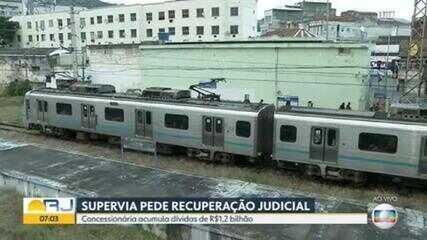 Supervia entra com pedido de recuperação judicial