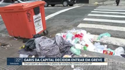 Coletores de lixo decidem fazer greve de 24 horas na capital