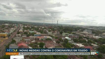 Toledo divulga novas medidas contra o coronavírus