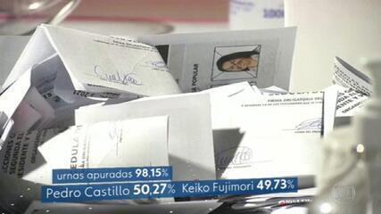 Eleição presidencial no Peru segue sem definição com mais de 98% das urnas apuradas