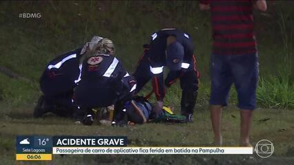 Câmera da TV Globo flagra acidente na barragem da Pampulha, em BH