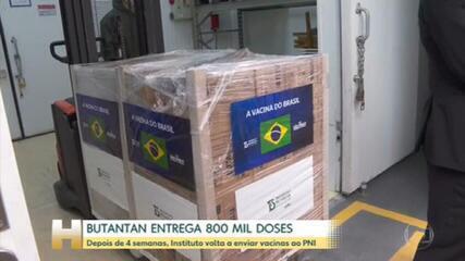 Butantan entrega 800 mil doses de coronavac ao Ministério da Saúde