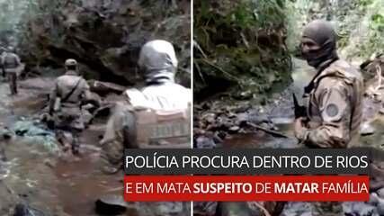 Polícia procura dentro de rios e em mata suspeito de matar família em Ceilândia