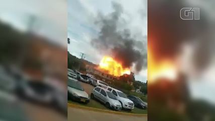 Video: A car bomb explodes at an army battalion in Colombia