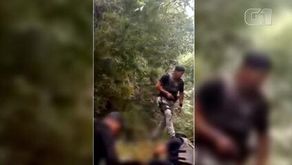Vídeo mostra resgate em rio de família feita refém por Lázaro em Goiás; ouça tiros