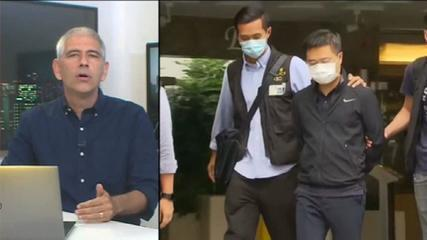 Hong Kong Police arrest newspaper editor and executive;  Officials say it is a 'partnership with foreign powers'