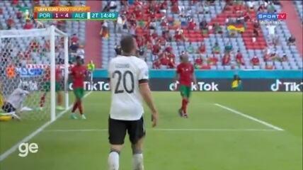 Os gols de Portugal 2 x 4 Alemanha, pela segunda rodada da Eurocopa