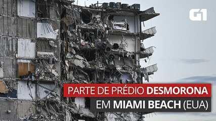 VÍDEO: Prédio desmorona parcialmente em Miami Beach