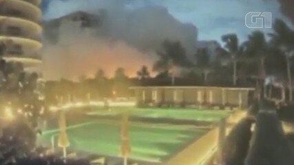 Vídeo: Veja o momento exato do desmoronamento em Miami