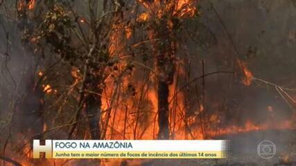 INPE registra o maior número de focos de incêndio na Amazônia Legal para o mês de junho