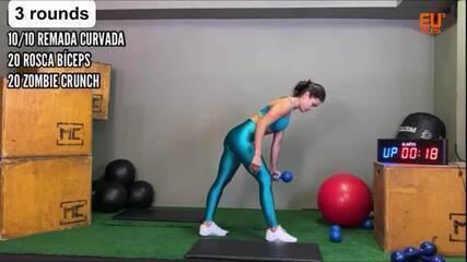 Faça, em tempo real, um treino de 9 minutos para braço e abdômen