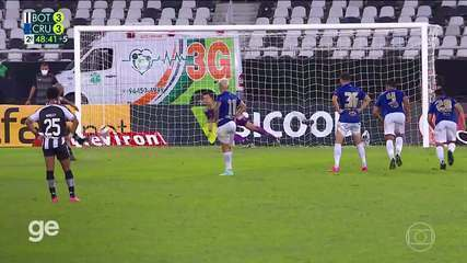 Os gols de Botafogo 3 x 3 Cruzeiro pela 11ª rodada do Brasileiro Série B