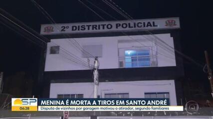 Menina de 4 anos é morta a tiros em Santo André