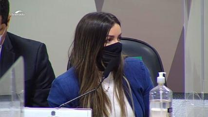 VÍDEO: Emanuela Medrades diz que nota com pagamento adiantado era um padrão mundial da Covaxin