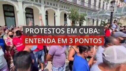 VÍDEO: 3 pontos para entender os protestos em Cuba