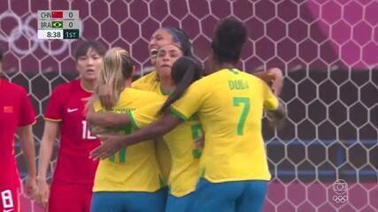 Os gols de China 0 x 5 Brasil pelo Futebol Feminino nas Olimpíadas de Tóquio 2020