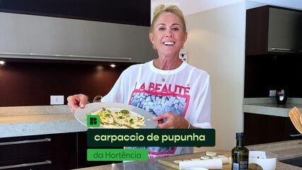 Hortência Marcari ensina a fazer carpaccio de pupunha