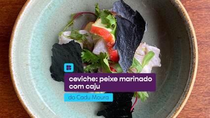 Cadu Moura ensina a fazer ceviche de peixe marinado com caju