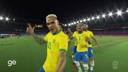 Aos 6 min do 1º tempo - finalização certa de Richarlison do Brasil contra a Alemanha