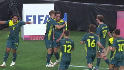 Os gols de Argentina 0 x 2 Austrália pelo futebol masculino nas Olimpíadas de Tóquio 2020