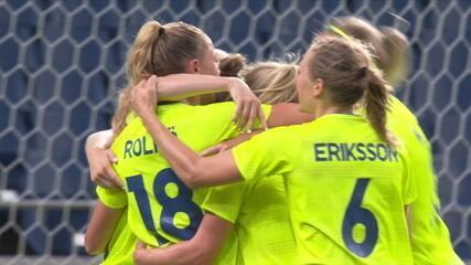 Os gols de Suécia 4 x 2 Austrália pelo Futebol Feminino nas Olimpíadas de Tóquio 2020