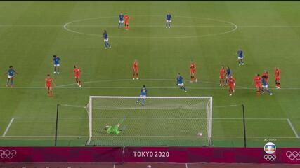Melhores momentos de Holanda 3 x 3 Brasil pelo futebol feminino nas Olimpíadas de Tóquio 2020