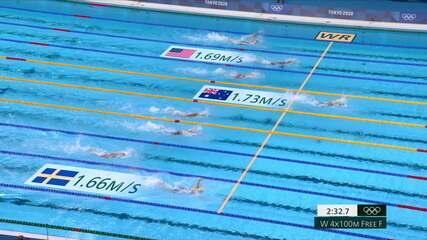 Austrália vence a final dos 4x100m livre feminino e quebra o recorde mundial
