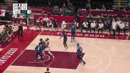 Melhores momentos de França 83 x 76 Estados Unidos pelo basquete dos Olimpíadas de Tóquio 2020