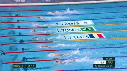 Fernando Scheffer fica em terceiro na semifinal dos 200m livre masculino na natação