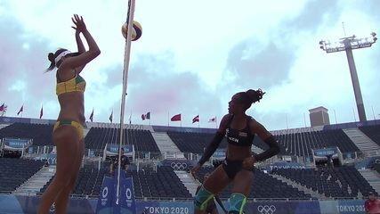 Melhores momentos: Brasil 2 X 0 Quênia pelo vôlei de praia nas Olimpíadas de Tóquio