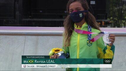 História no skate! Rayssa é a mais jovem atleta brasileira a subir ao pódio em Olimpíadas
