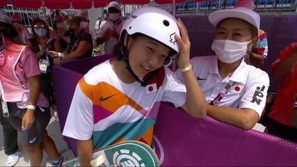 Japonesa de 13 anos conquista o ouro no skate