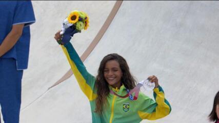 Rayssa Leal faz história e conquista medalha de prata em Tóquio