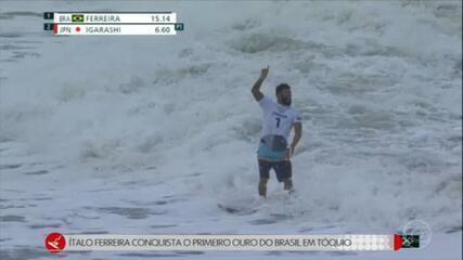 Italo Ferreira leva a primeira medalha de ouro para o Brasil