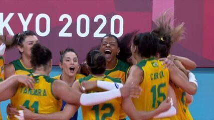 Melhores momentos: Brasil 3 x 2 República Dominicana pelo vôlei feminino nas Olimpíadas de Tóquio
