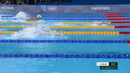 Leo de Deus termina em sexto e Kristof Milak (HUN) bate recorde nos 200m borboleta masculino nos Jogos de Tóquio