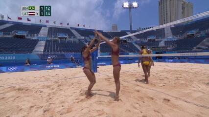 Tie-break: dupla da Letônia fecha o jogo 12x15