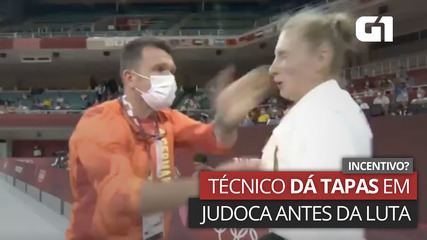 VÍDEO: Judoca alemã recebe tapas no rosto de técnico antes de luta nas Olimpíadas