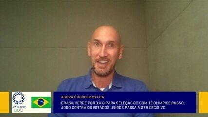 """""""Pressão não é novidade"""", diz Nalbert após derrota do Brasil para o Comitê Olímpico Russo"""