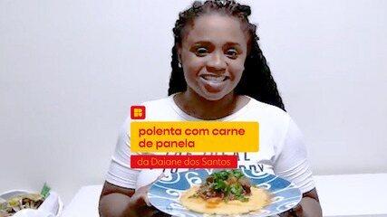 Daiane dos Santos ensina a fazer Polenta mole com carne de panela