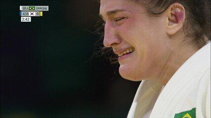 Medalha de bronze para o Brasil! Vitória de Mayra Aguiar por ippon no judô 78kg