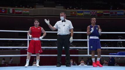 Por decisão unânime, Graziele de Jesus é derrotada por Tsukimi Namiki, do Japão, e é eliminada no boxe